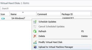 sccm-upload to vmm